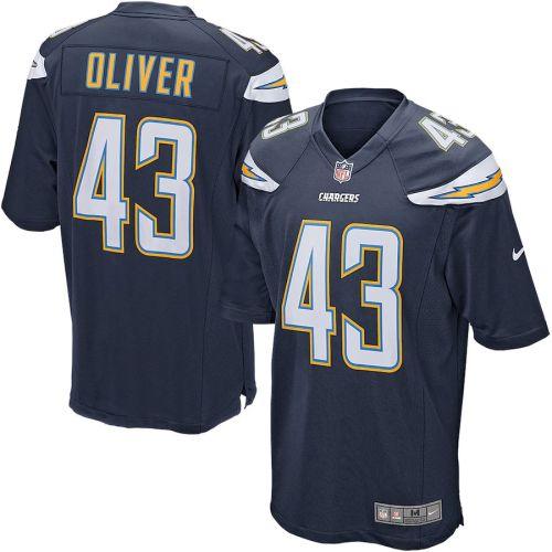Men's Branden Oliver Navy Blue Player Limited Team Jersey