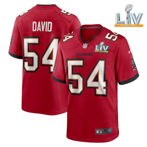 Men's Lavonte David Red Super Bowl LV Player Limited Team Jersey