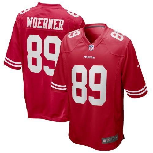 Men's Charlie Woerner Scarlet Player Limited Team Jersey