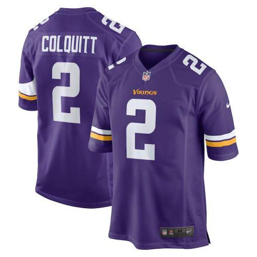 Men's Britton Colquitt Purple Player Limited Team Jersey