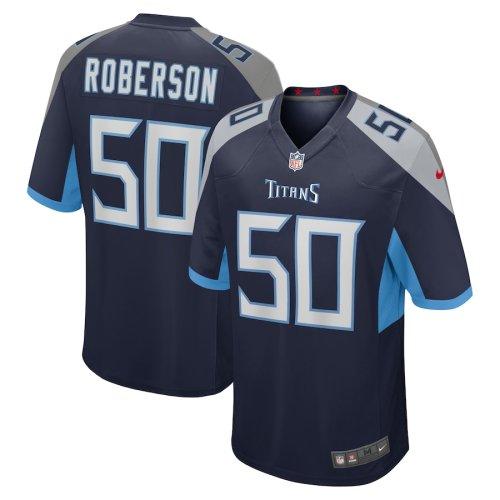 Men's Derick Roberson Navy Player Limited Team Jersey