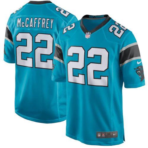 Men's Christian McCaffrey Blue Player Limited Team Jersey