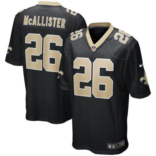 Men's Deuce McAllister Black Retired Player Limited Team Jersey
