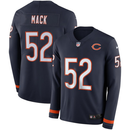 Men's Khalil Mack Black Therma Long Sleeve Player Limited Team Jersey