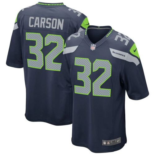Men's Chris Carson Navy Player Limited Team Jersey