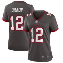 Women's Tom Brady Pewter Alternate Player Limited Team Jersey
