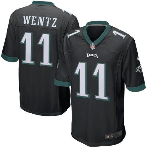 Men's Carson Wentz Black Player Limited Team Jersey
