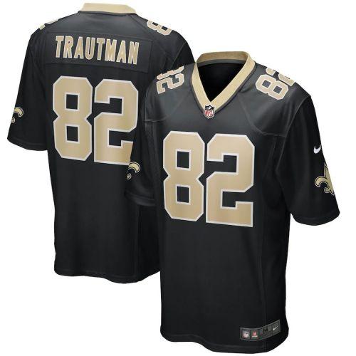 Men's Adam Trautman Black Player Limited Team Jersey