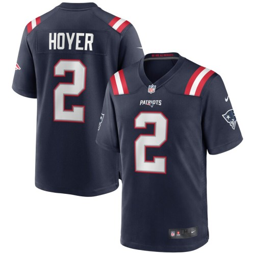 Men's Brian Hoyer Navy Player Limited Team Jersey