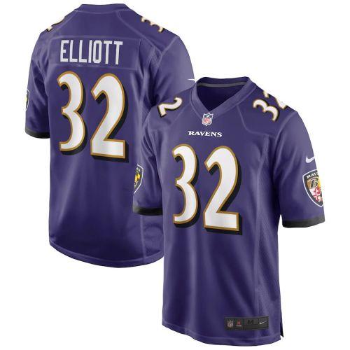 Men's DeShon Elliott Purple Player Limited Team Jersey