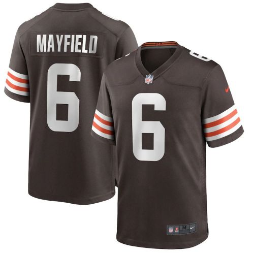 Men's Baker Mayfield Brown Player Limited Team Jersey