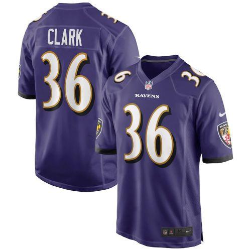 Men's Chuck Clark Purple Player Limited Team Jersey