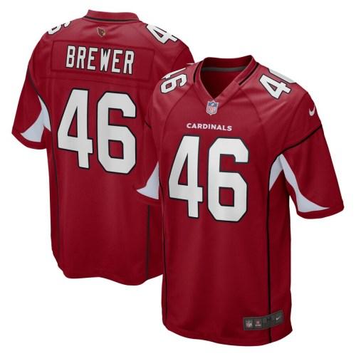 Men's Aaron Brewer Cardinal Player Limited Team Jersey