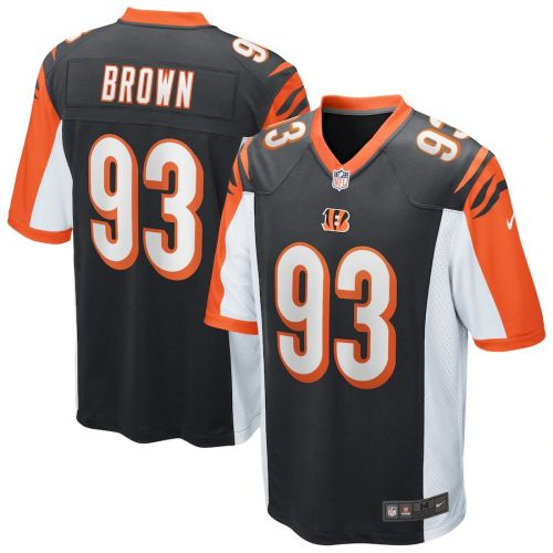 Men's Andrew Brown Black Player Limited Team Jersey