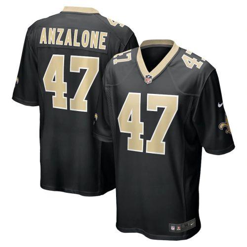 Men's Alex Anzalone Black Player Limited Team Jersey