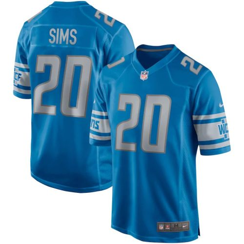 Men's Billy Sims Blue Retired Player Limited Team Jersey