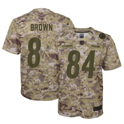 Men's Antonio Brown Camo Salute to Service Player Limited Team Jersey