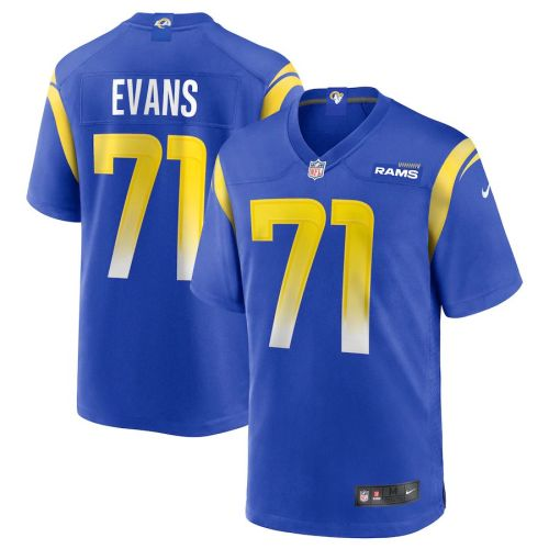 Men's Bobby Evans Royal Player Limited Team Jersey