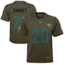 Youth Jalen Ramsey Olive Salute to Service Player Limited Team Jersey