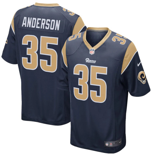 Men's C.J. Anderson Navy Player Limited Team Jersey