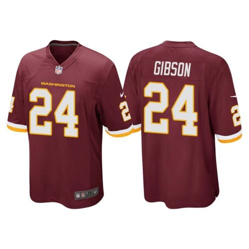 Men's #24 Antonio Gibson Burgundy Player Limited Team Jersey