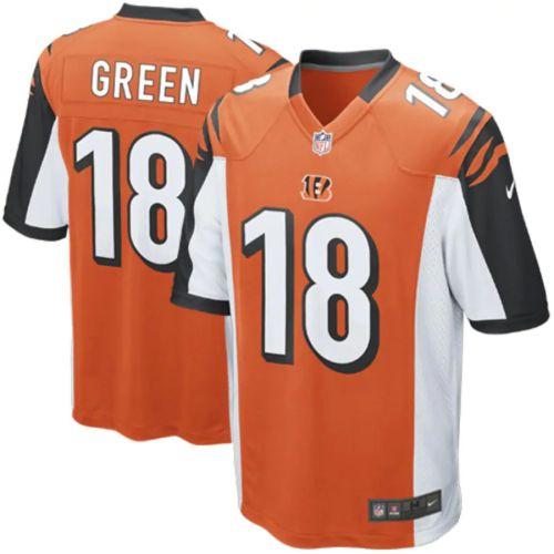 Men's AJ Green Orange Alternate Player Limited Team Jersey