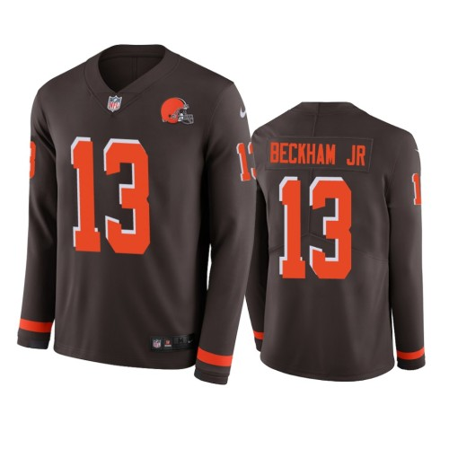 Men's Odell Beckham Jr. Black Therma Long Sleeve Player Limited Team Jersey