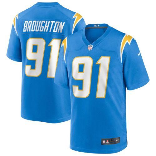 Men's Cortez Broughton Powder Blue Player Limited Team Jersey