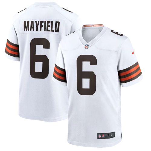 Men's Baker Mayfield White Player Limited Team Jersey
