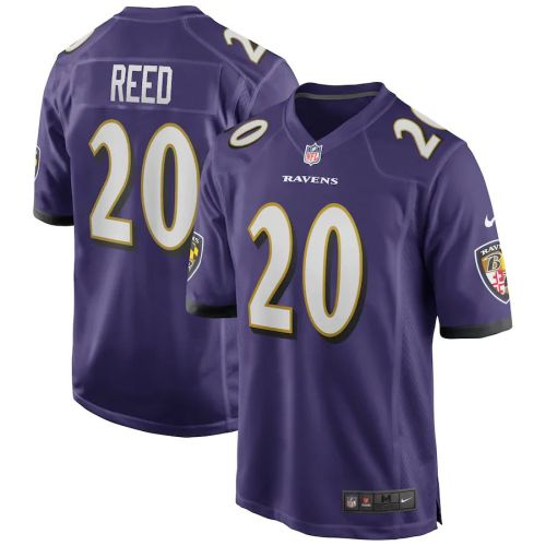 Men's Ed Reed Purple Retired Player Limited Team Jersey