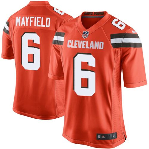 Men's Baker Mayfield Orange Player Limited Team Jersey
