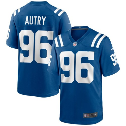 Men's Denico Autry Royal Player Limited Team Jersey