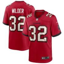 Men's James Wilder Red Retired Player Limited Team Jersey