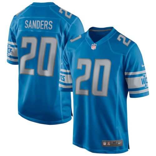 Men's Barry Sanders Blue Retired Player Limited Team Jersey