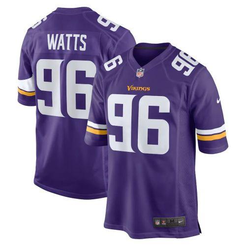 Men's Armon Watts Purple Player Limited Team Jersey