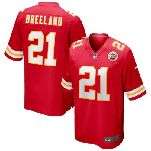 Men's Bashaud Breeland Red Player Limited Team Jersey