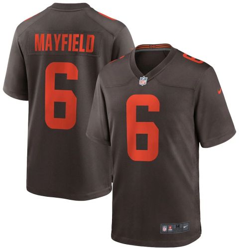 Men's Baker Mayfield Brown Alternate Player Limited Team Jersey