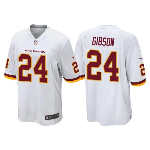 Men's #24 Antonio Gibson White Player Limited Team Jersey