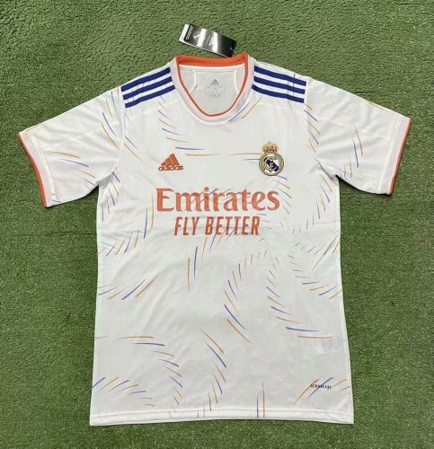 Thai Version Real Madrid 21/22 Home Soccer Jersey