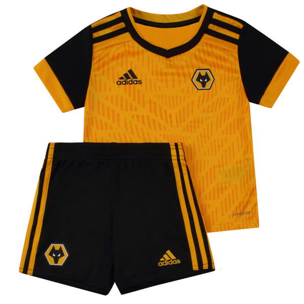 Wolverhampton Wanderers F.C. 20/21 Kids Home Soccer Jersey and Short Kit