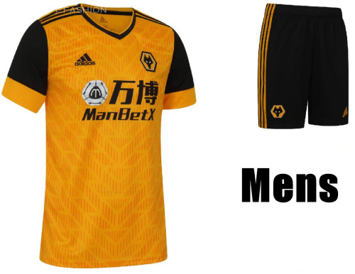 Wolverhampton Wanderers 20/21 Home Soccer Jersey and Short Kit