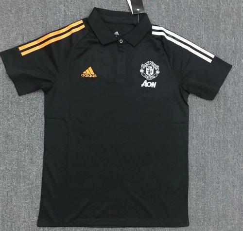 Manchester United 20/21 Training Polo Shirt Black
