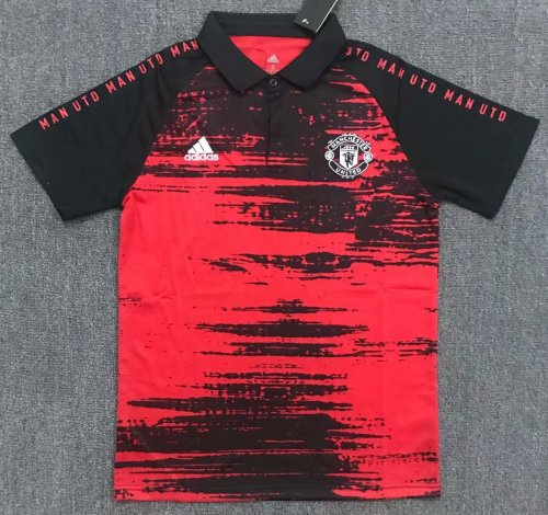Manchester United 20/21 Training Polo Shirt Red/Black