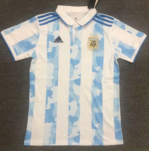 Argentina 2021 Home Pre-Match Polo Shirt