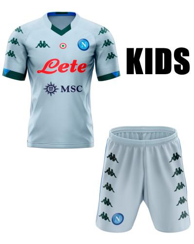 Napoli 20/21 Kids Away Soccer Jersey and Short Kit