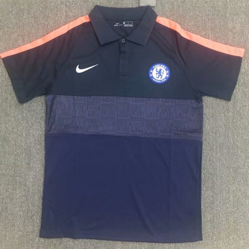Chelsea 20/21 Navy Pre-Match Polo Shirt