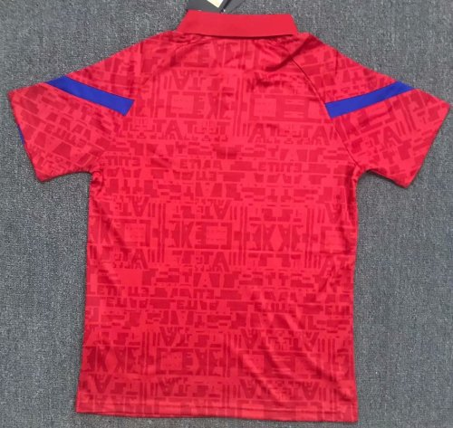 Atletico Madrid 20/21 Red Pre-Match Polo Shirt