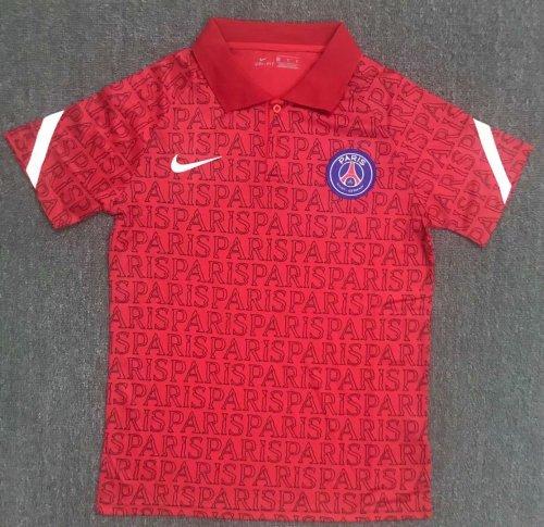 Paris Saint-Germain 20/21 Red Pre-Match Polo Shirt