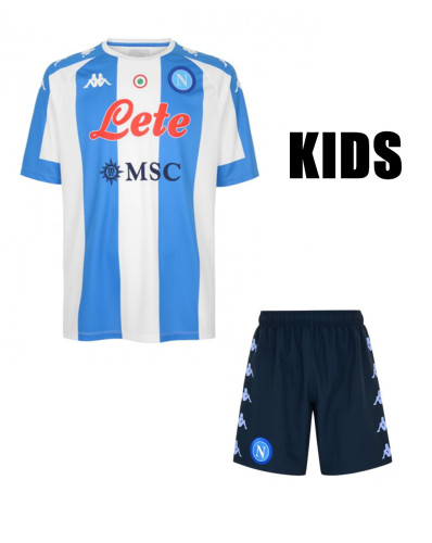 Napoli 20/21 4th Special Edition Kids Soccer Jersey and Short Kit
