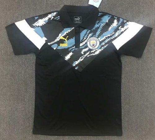 Manchester City 20/21 Training Polo Shirt Black